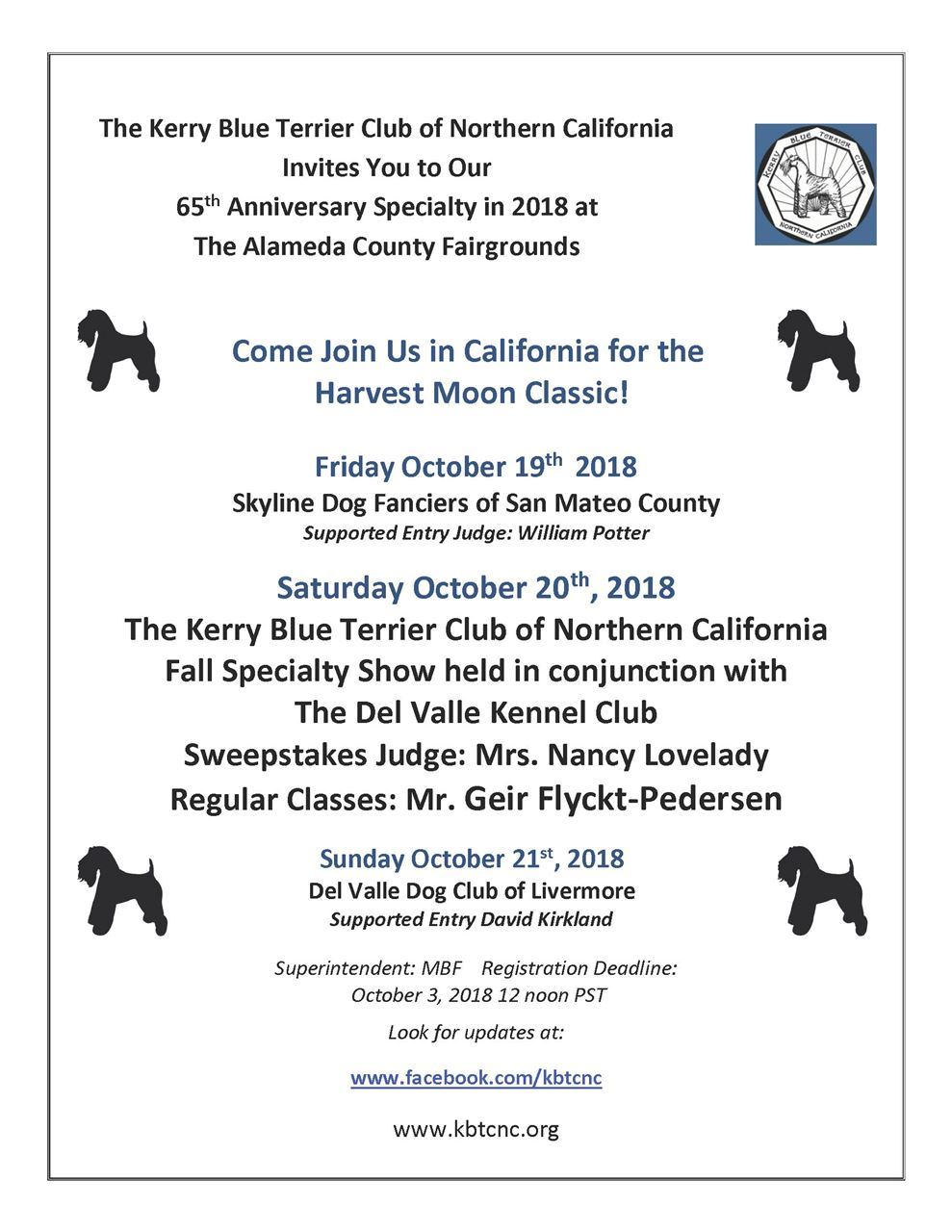 United States Kerry Blue Terrier Club, Inc  - 65th